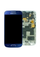 TOUCHSCREEN C/ ARO E DISPLAY SAMSUNG S4 MINI LTE, I9195 AZUL ORIGINAL (GH97-14766C)