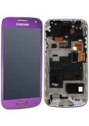 TOUCHSCREEN C/ ARO E DISPLAY SAMSUNG S4 MINI LTE, I9195 ROXO ORIGINAL (GH97-14766E)