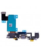 FLEX COM CONECTOR CARGA LIGHTNING, CONECTOR DE AUDIO E MICROFONE APPLE IPHONE 6S PLUS CINZENTA ORIGINAL