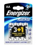PILHA ENERGIZER ULTIMATE LITHIUM AA 3+1