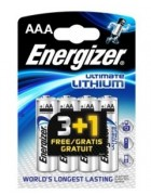 PILHA ENERGIZER ULTIMATE LITHIUM AAA 3+1