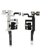 Flex com Botões Volume e Entrada de Auriculares Iphone 4S Branco Original