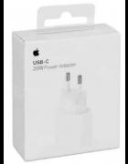 ADAPTADOR CORRENTE USB-C 20W APPLE MHJ83ZM/A BRANCO ORIGINAL BLISTER