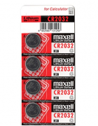 PILHAS MAXELL CR2032 - PACK 5 UNIDADES
