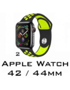 BRACELETE SILICONE APPLE WATCH 42MM/44MM (MODELO 2)