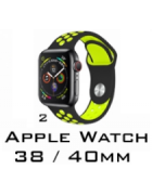BRACELETE SILICONE APPLE WATCH 38MM/40MM (MODELO 2)