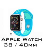 BRACELETE SILICONE APPLE WATCH 38MM/40MM (MODELO 3)