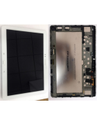 "TOUCHSCREEN C/ ARO E DISPLAY TABLET SAMSUNG GALAXY NOTE 10.1"" P600, P601, P605 BRANCO ORIGINAL"