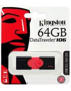 PEN DRIVE KINGSTON 64GB DATATRAVELER 106 USB 3.1 PRETA ORIGINAL BLISTER