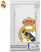 BOLSA SILICONE JELLY REAL MADRID IPHONE 6 PLUS, IPHONE 6S PLUS BRANCA/TRANSPARENTE ORIGINAL BLISTER