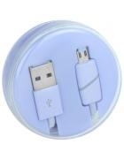 """CABO DADOS MICRO USB """"RING"""" ROXO (1 METRO) BLISTER"""