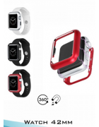 CAPA MAGNETICA METALICA APPLE WATCH 42MM PRETA (FRONTAL E TRASEIRA)