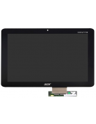 "TOUCHSCREEN E DISPLAY TABLET ACER ICONIA A210, A211 de 10.1"" PRETO ORIGINAL"