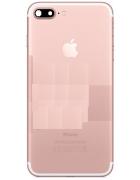 CAPA TRASEIRA IPHONE 7 PLUS C/ COMPONENTES ROSA DOURADA ORIGINAL