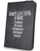 BOLSA TABLET UNIVERSAL 9''- 10.1'' DESENHO ALWAYS GIVE 100% AT WORK BLISTER