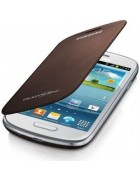 FLIP COVER SAMSUNG GALAXY S3 MINI I8190,. I8195 BROWN ORIGINAL BLISTER