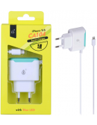 CARREGADOR CASA/SECRETARIA SANDWICH CA104 APPLE LIGHTNING BRANCO BLISTER (1 AMPERE)