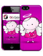 CAPA LISA IPHONE 5,5s FUNNY ANIMA GEMELLA ANGEL