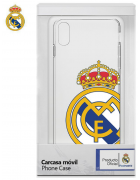 BOLSA SILICONE JELLY REAL MADRID IPHONE X, IPHONE XS BRANCA/TRANSPARENTE ORIGINAL BLISTER