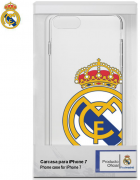 BOLSA SILICONE JELLY REAL MADRID IPHONE 7, IPHONE 8 BRANCA/TRANSPARENTE ORIGINAL BLISTER