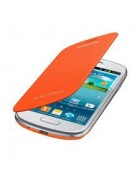 FLIP COVER SAMSUNG GALAXY S3 MINI I8190,. I8195 ORANGE ORIGINAL BLISTER