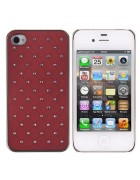 CAPA DIAMOND IPHONE 4G,4S VERMELHA