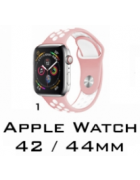 BRACELETE SILICONE APPLE WATCH 42MM/44MM (MODELO 1)