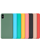 CAPA SILICONE COVER IPHONE 7, IPHONE 8 AZUL CLARA BLISTER