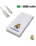 BATERIA EXTERNA POWERBANK REAL MADRID 4000mAh BRANCA ORIGINAL (1 SAIDA)