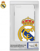 BOLSA SILICONE JELLY REAL MADRID IPHONE 6, IPHONE 6S BRANCA/TRANSPARENTE ORIGINAL BLISTER